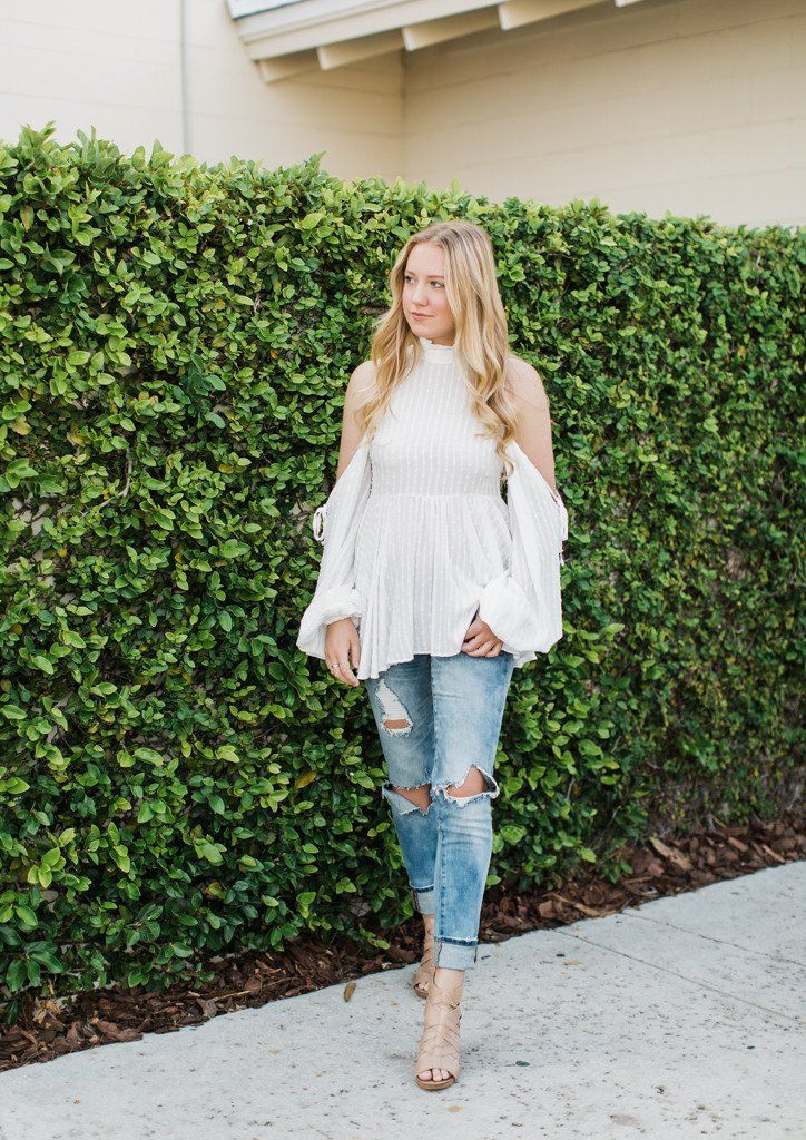 Amelia Cold Shoulder - White