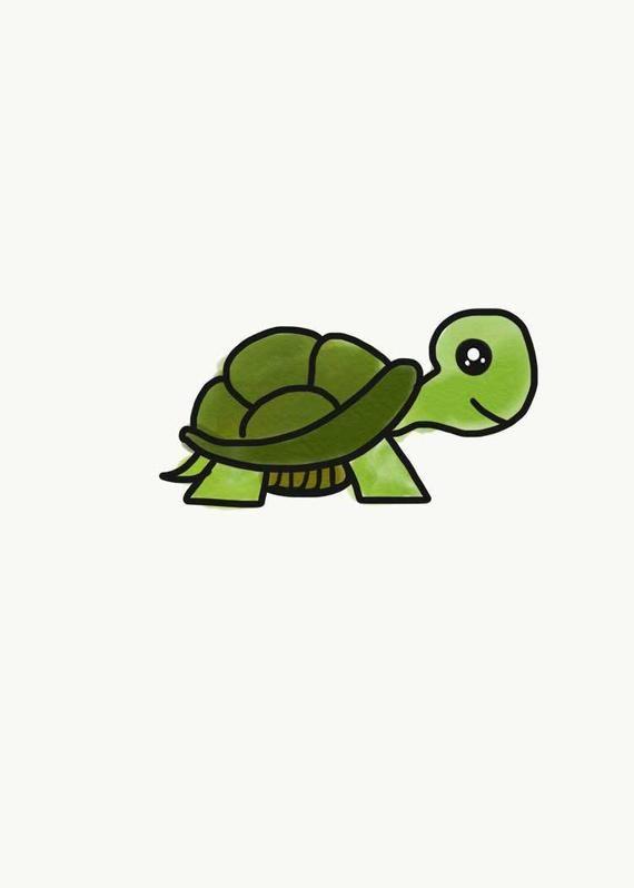 Baby Turtle Cute Turtle Illustration Baby Room Decor Etsy In 2020 Cute Turtle Cartoon Cute Turtles Turtle Tattoo