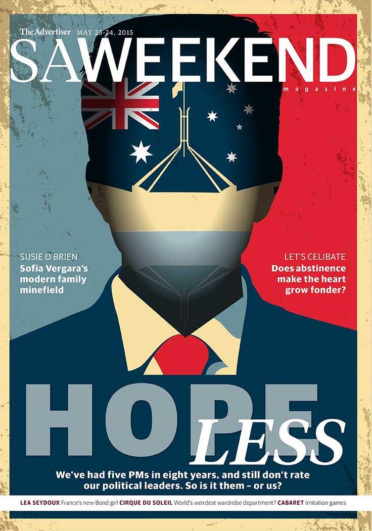 SA Weekend Magazine, May 25, 2015.  #Adelaide #SA #cover #SouthAustralia #magazine #cover #design SA Weekend Magazine, April 4, 2015.  #Adelaide #SA #cover #SouthAustralia #magazine #cover #design #Politics