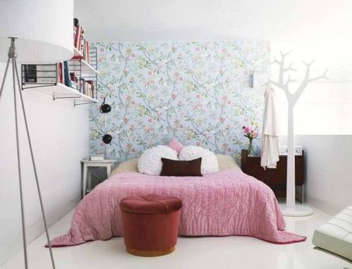 chambre romantique avec couvre lit rose sleep pinterest roses et blog. Black Bedroom Furniture Sets. Home Design Ideas