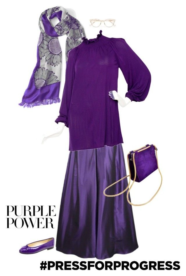 """""""Outfit 591"""" by chicagomuslima ❤ liked on Polyvore featuring Ralph Lauren, Slater Zorn, Givenchy, Steiger, Cutler and Gross, purplepower, internationalwomensday, maxistyle and pressforprogress"""