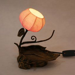 Twig Table Paper Lamp with Korean Mulberry Shade Lantern