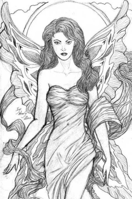 beautiful angelic fae drawing by wendy reynolds one of only two she has ever done