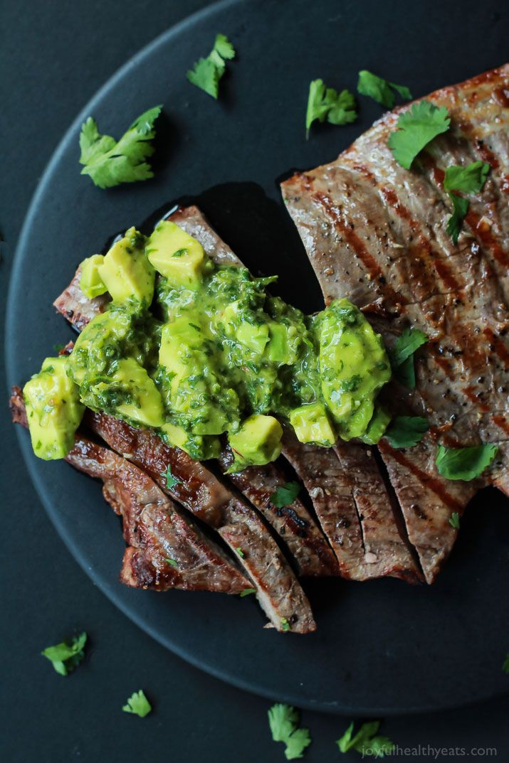 mens black wallet Juicy Grilled Flank Steak topped with a fresh Avocado Chimichurri done in  minutes  it   s grilling made simple but still full of flavor De lish  joyfulhealthyeats com recipes paleo glutenfree
