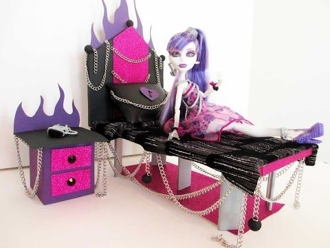 How To Make A Spectra Vondergeist Doll Bed Tutorial/ Monster High   YouTube