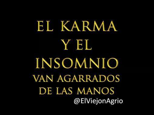 Karma e insomnio