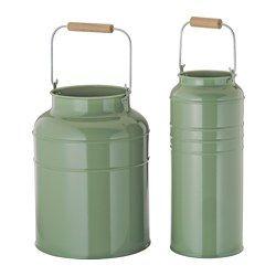 IKEA - SOCKER, Vase, lot de 2, Pour une utilisation en intérieur ou en extérieur.Peuvent être empilé l'un dans l'autre pour gagner de la place.