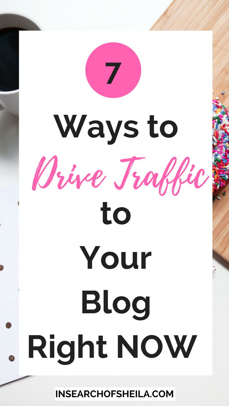 Are you a new blogger and don't know how to get traffic to your blog? Click here to learn 7 easy ways to get more blog page views and grow your readership. For more blogging tips head to insearchofsheila.com