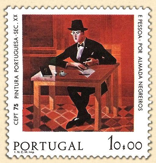 Filatelia - Selos em Homenagem a Fernando Pessoa