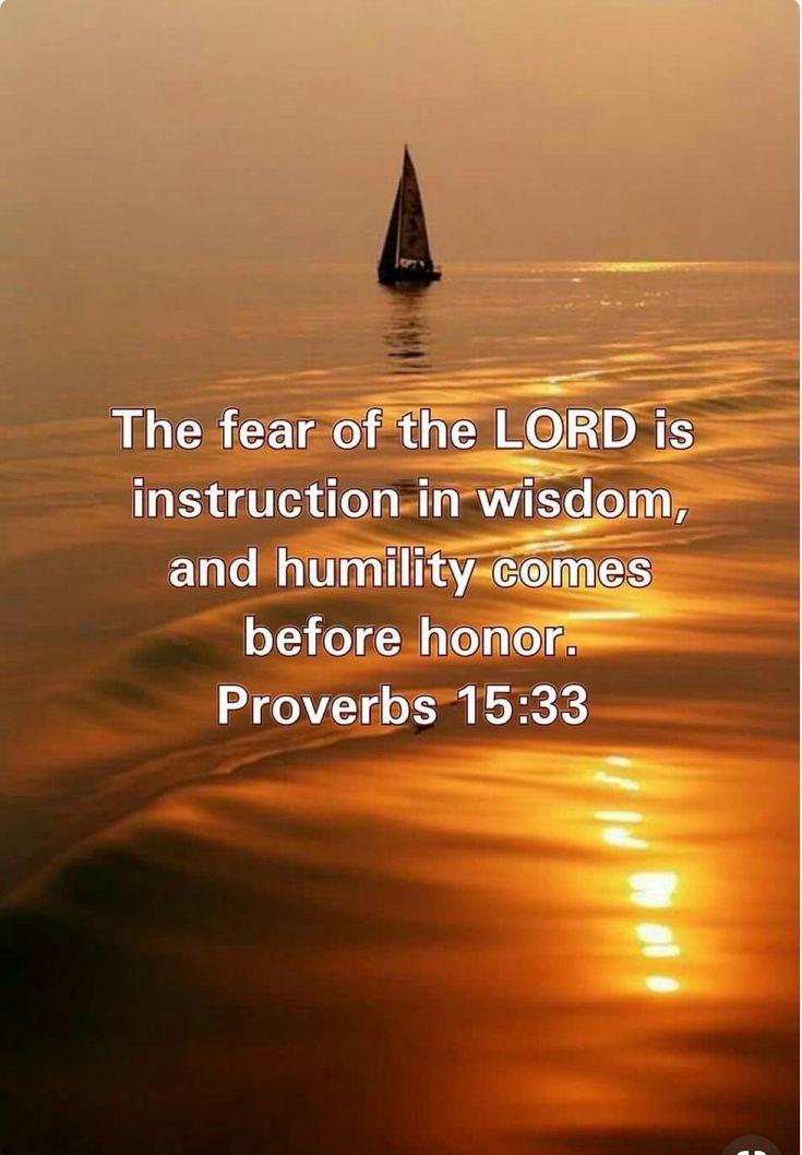 Proverbs 15:33