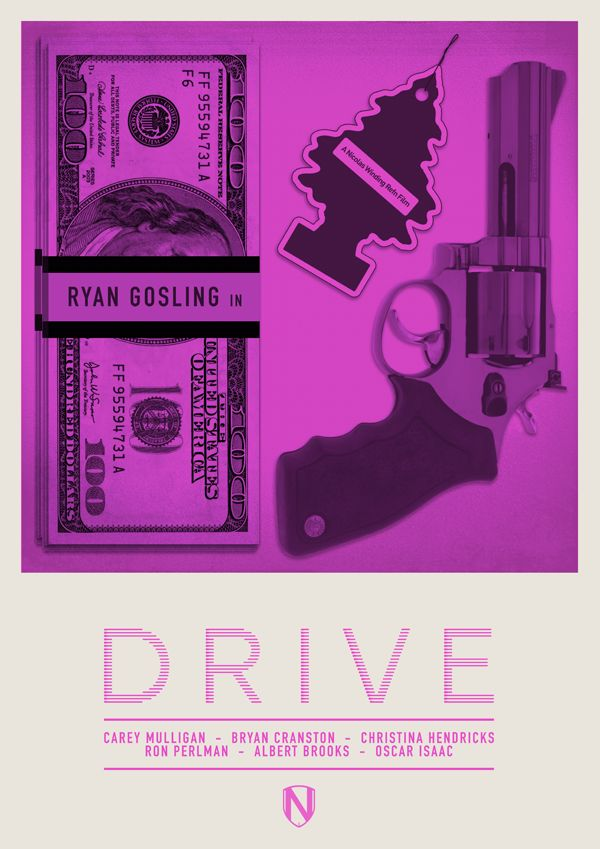 A Print inspired by DRIVE the 2011 film by Nicolas Winding Refn. Starring Ryan Gosling, Carey Mulligan, Bryan Cranston, Ron Perlman amongst others.