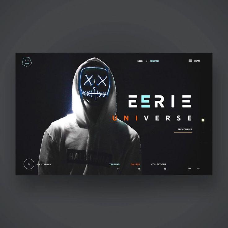 Eerie Universe Ui Design Concept. Desliza para obtener más crédito fotográfico Sebastiaan Stam   – Zukünftige Projekte