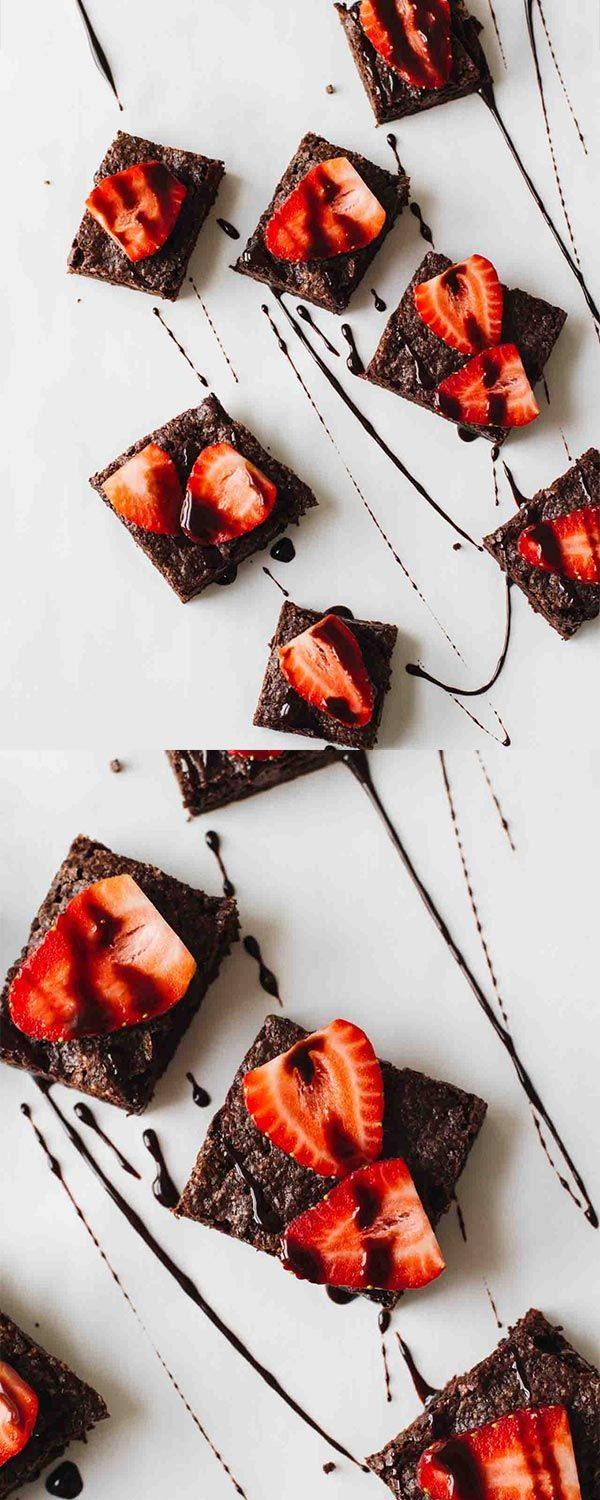 Superfood Strawberry Chocolate Brownies! Vegan, vegetarian, gluten free, refined sugar free, and DELICIOUS!