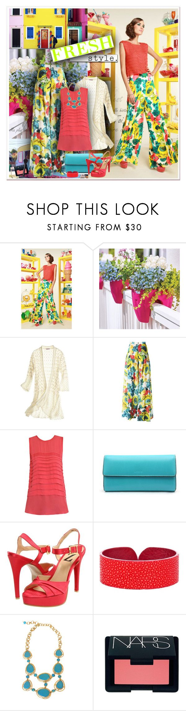 """FRESH STYLE"" by gustosa ❤ liked on Polyvore featuring Alice + Olivia, Improvements, Calypso St. Barth, L'Agence, Lodis, Type Z, A Cuckoo Moment, Kanupriya and NARS Cosmetics"