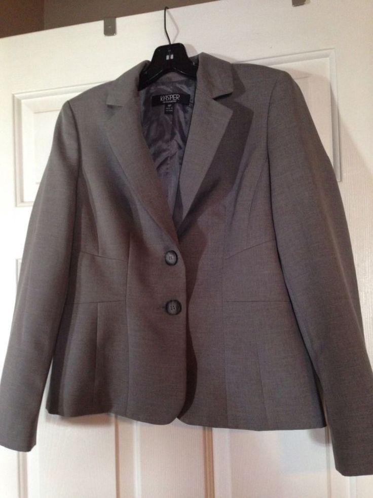 Kasper Separates Jacket, Blazer Ladies Sz 4P Lined Gray #Kasper #Blazer