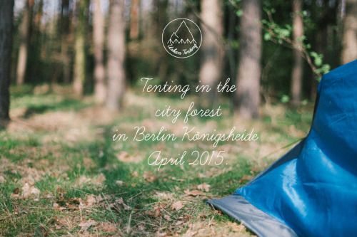 Tenting in city forest