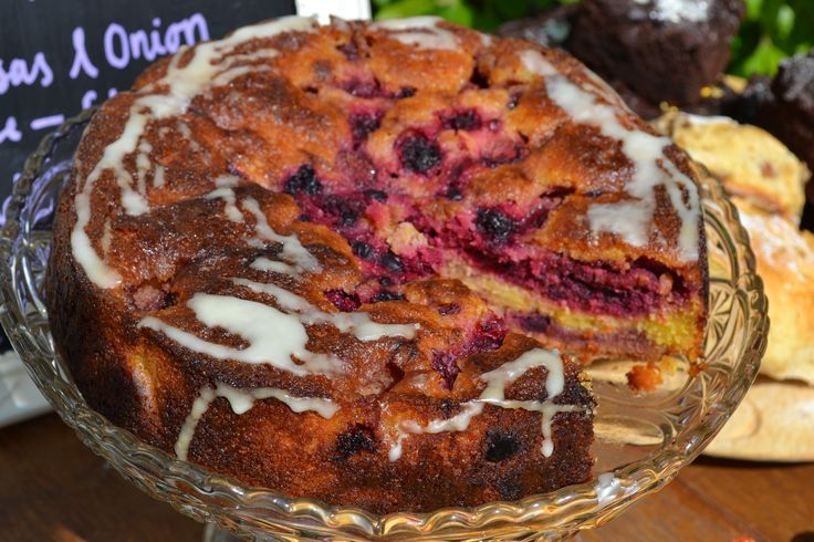 Myrtle Bakes Summer fruit Polenta Cake, sold at Provedore, Falmouth throughout the week. #myrtlebakes