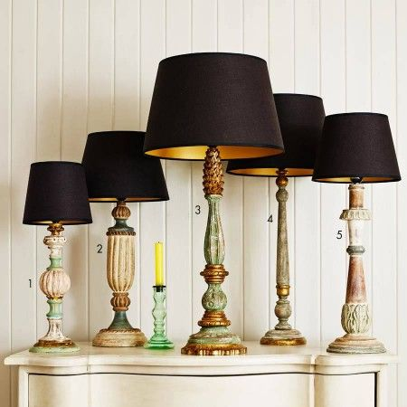 Classical Wooden Lamps - Table Lamps - Lighting - Lighting & Mirrors