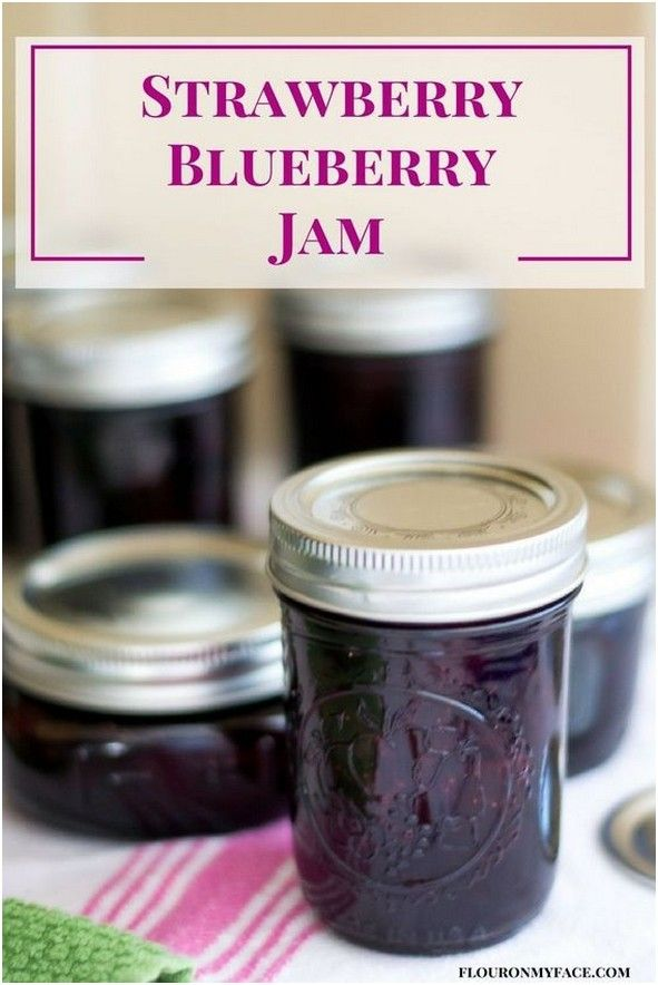 Homemade Strawberry Blueberry Jam Or Mixed Berry Preserves