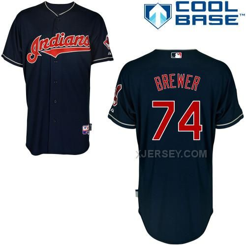 http://www.xjersey.com/indians-74-brewer-blue-cool-base-jerseys.html INDIANS 74 BREWER BLUE COOL BASE JERSEYS Only $43.00 , Free Shipping!
