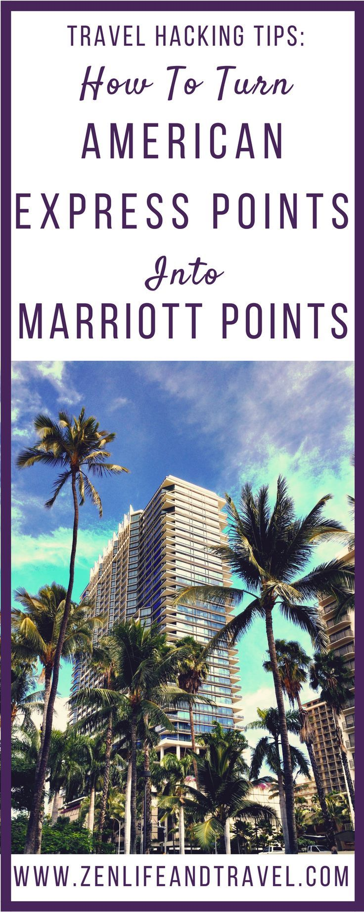 Travel Hacking Tips: How To Turn American Express Points Into Marriott Points.  This step by step guide will show you how to turn your American Express Membership Rewards points into Marriott Rewards points even though they aren't transfer partners! #travelhacks #traveltips #marriott #americanexpress #creditcardpoints