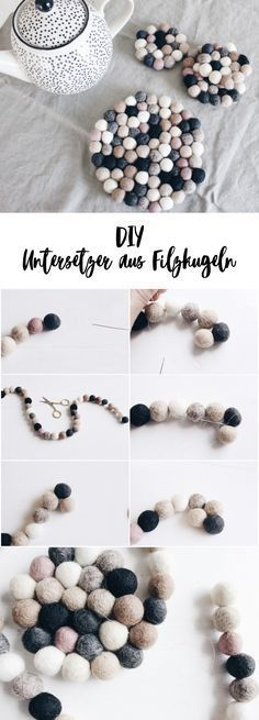 {Advertisement} DIY coasters made of felt balls