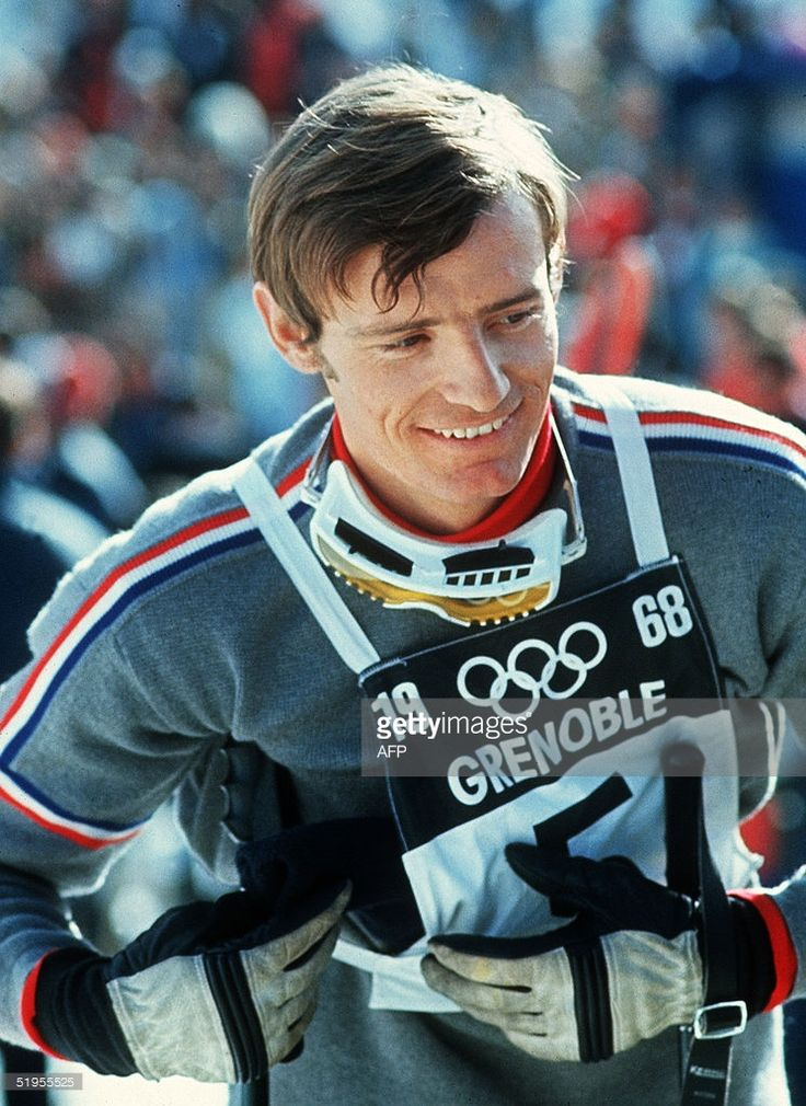 Portrait of French skier Jean-Claude Killy taken 17 February 1968 in Chamrousse, near Grenoble (French Alps), during the Winter Olympic Games. Killy won three gold medals during the competition (downhill, slalom and giant slalom) to tie Austrian Toni Sailer's performance in the 1956 Winter Olympic Games in Cortina d'Ampezzo (Italy).