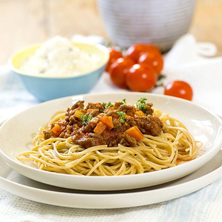 Spagetti og kjøttsaus innbiller jeg meg er én av de aller mest brukte hverdagsmiddagene i