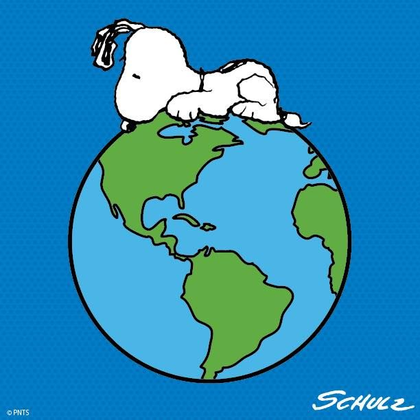 Snoopy is all over the world.