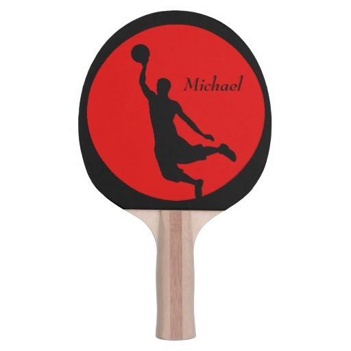 Red Black Basketball Slam Dunk Personalized