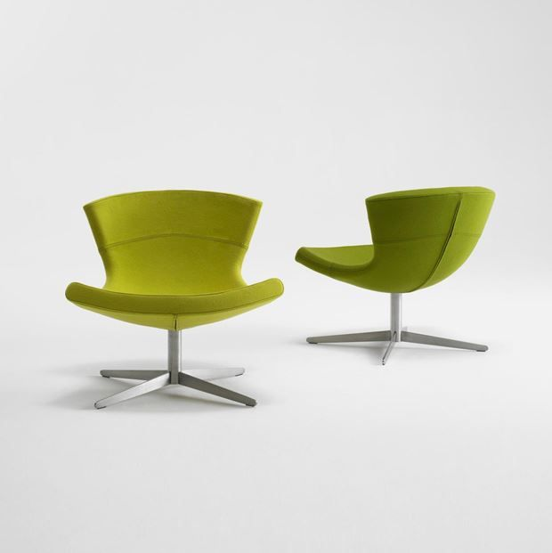 +HALLE Jet is designed as an authentic lounge chair, where the sitting posture is naturally reclined.