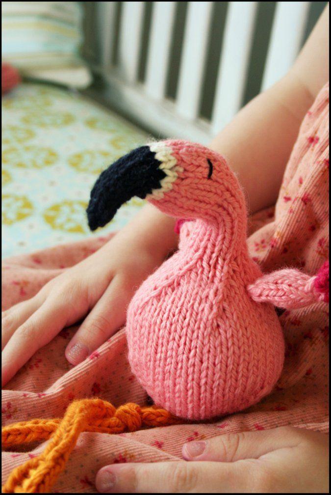 #Knitting - #flamingo. free pattern