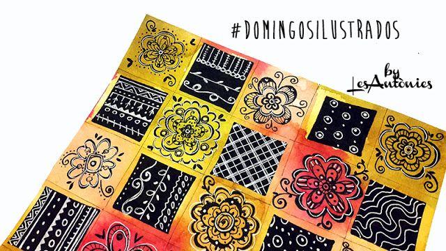 FLORS, DOODLES I QUADRES ALS #DOMINGOSILUSTRADOS. | Les Antònies