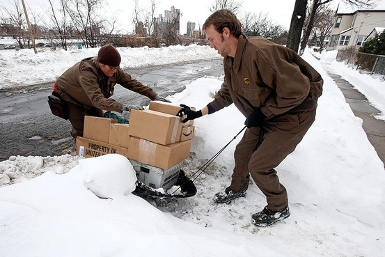 UPS (United Parcel Service) going the extra mile to deliver parcels and packages to customers when a truck is just not enough!