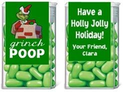 Christmas Grinch Poop Tic Tac Labels. Christmas Tic Tac Labels are fun Christmas party favor ideas for adult parties or for children's parties.