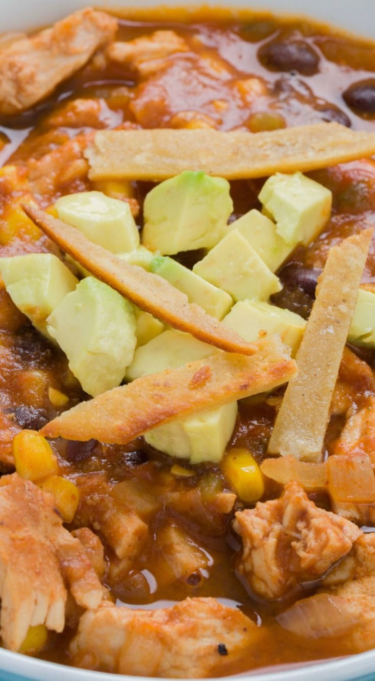 Carnitas Enchilada Soup ~ Make dinner an instant fiesta with this killer soup.