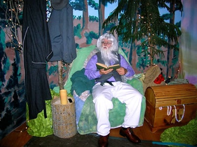 shepherd valley halloween journey, shepherd led path to fairy tale vignettes.