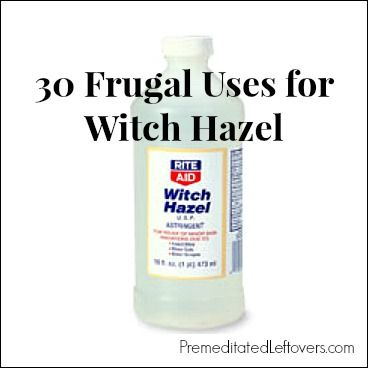 30 frugal Uses for Witch Hazel - including jewelry and eyeglass cleaner and more frugal ihacks with other things!