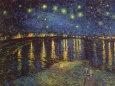 Sterrennacht boven de Rhône, ca.1888 Kunstdruk van Vincent van Gogh