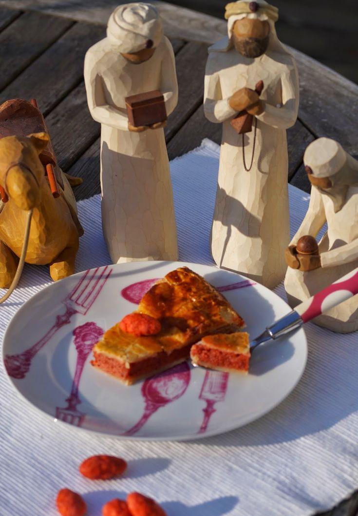 Recettes gourmandes by Kélou: Galette des rois aux pralines et au chocolat blanc