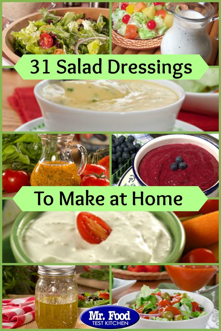 31 Salad Dressings to Make at Home - These homemade salad dressings complement your summer salads to perfection. From French dressing to ranch dressing to balsamic vinaigrette and more, you'll love this collection of homemade salad dressings.