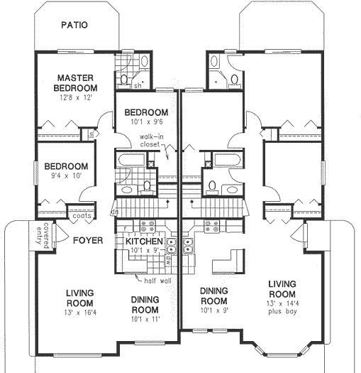 House plan house plans by for Multigenerational home designs