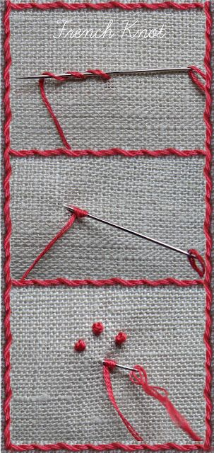 Tutorial: whipped running stitch and French knots                                                                                                                                                                                 More