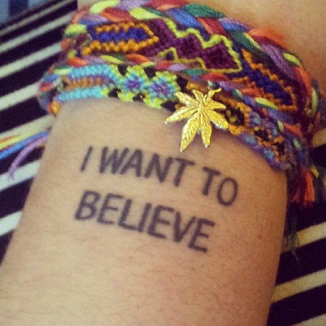 trusty x files tattoo - bracelets by @Justin McGoldrick Bakerstreet