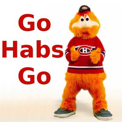 Youppi said it : Go Habs Go!
