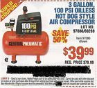Coupon to save $40 on 3 Gallon 100 Psi Air Compressor @ Harbor Freight Tools - http://couponpinners.com/coupons/coupon-to-save-40-on-3-gallon-100-psi-air-compressor-harbor-freight-tools/