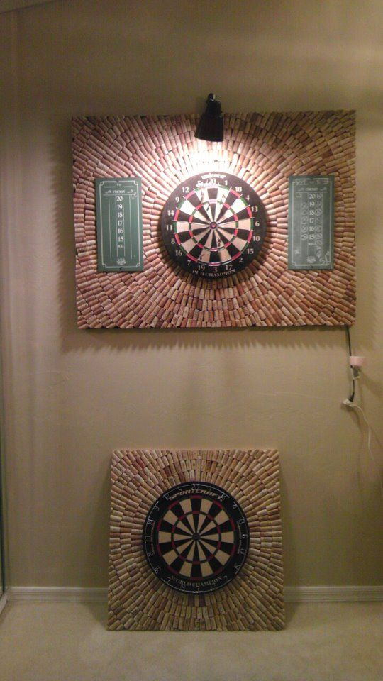 """THis is prob. the first """"cork board' craft that I think is pretty awesome!. DIY Wine Cork Dartboard. Friend posted on FB and it is totally Pinterest worthy!"""