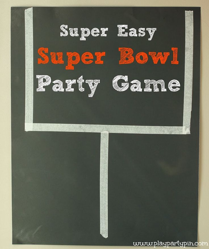 This easy Super Bowl party game is quick to setup and fun for kids and adults alike to play!