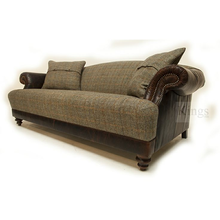 17 best images about tetrad harris tweed upholstery on for Leather and tweed sofa