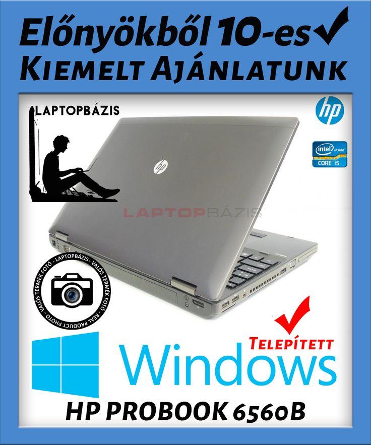 Kiemelt ajánlatunk: HP PROBOOK 6560B   - Az ára tartalmazza az ajándék Windows-t - Rendkívül kedvezményes ár (32%-os engedmény) - Ingyenes kiszállítás  Szép állapotú, keveset használt, fiatal üzleti laptop. Megbízható, gyors garanciás laptop töltővel, jó aksival. Az erős második generációs Intel Core i5 processzora miatt nagyobb teljesítményű programokhoz, munkákhoz kiváló választás. Nem csak üzleti célra, otthoni mindennapi felhasználásra is ajánljuk, tulajdonosa elégedett lesz. HD filmeke